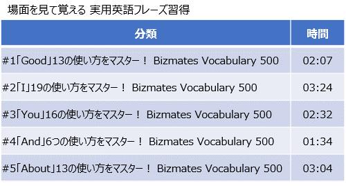 ビズメイツ_場面を見て覚える 実用英語フレーズ習得シリーズ
